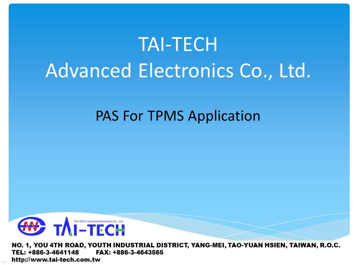 PAS For TPMS Application